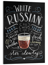 Acrylglas print  white russian - Lily & Val