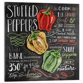 Acrylglas print  Stuffed peppers recipe - Lily & Val