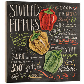 Hout print  Stuffed peppers recipe - Lily & Val