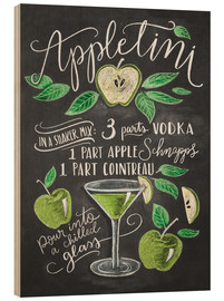 Hout print  appletini - Lily & Val