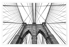 Premium poster Brooklyn bridge