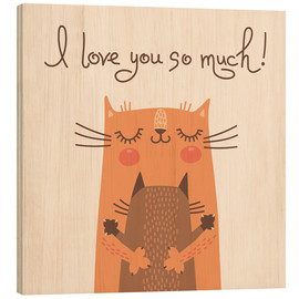 Hout print  Cats love - Kidz Collection
