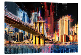 Acrylglas print  New York mit Brooklyn Bridge - Peter Roder