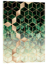 Acrylglas print  Leaves And Cubes - Elisabeth Fredriksson