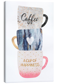 Canvas print  A cup of happiness - Elisabeth Fredriksson