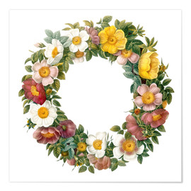 Premium poster Wreath of wild roses