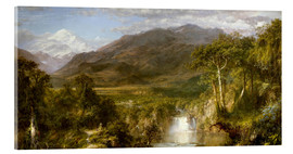 Acrylglas print  Heart of the Andes - Frederic Edwin Church