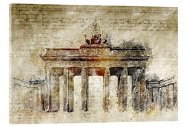 Acrylglas print  Berlin Brandenburg Gate in modern abstract vintage look - Michael artefacti