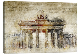 Canvas print  Berlin Brandenburg Gate in modern abstract vintage look - Michael artefacti