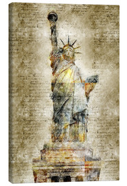 Canvas print  Statue of liberty New York in modern abstract vintage look - Michael artefacti