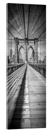 Acrylglas print  NEW YORK CITY Brooklyn Bridge Panorama - Melanie Viola