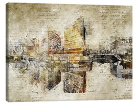 Canvas print  Hamburg Hafencity abstract - Michael artefacti
