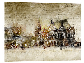 Acrylglas print  Bremen market marketplace modern and abstract - Michael artefacti