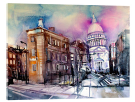 Acrylglas print  London, Queen Victoria Street, St. Paul's - Johann Pickl