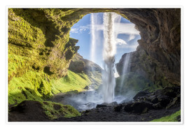 Premium poster Kvernufoss waterfall in south of Iceland