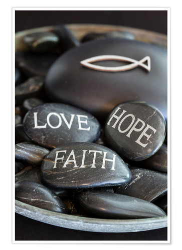 Premium poster Love Hope Faith