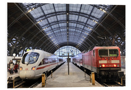 PVC print  ICE and InterRegio trains in the central station - imageBROKER