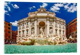 Acrylglas print  Trevi Fountain or Fontana di Trevi in ??summer