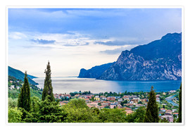 Premium poster View of Riva Del Garda and Lake Garda, Italy