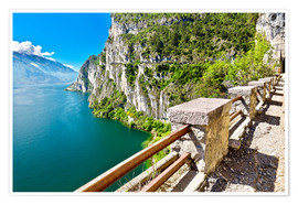 Premium poster Summer view over Lake Garda