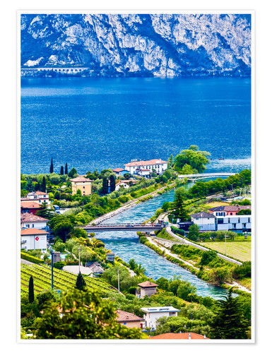 Premium poster View of Lake Garda in Northern Italy