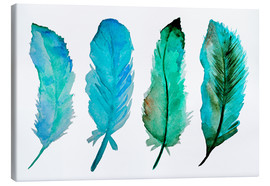 Canvas print  Four feathers