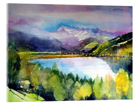 Acrylglas print  View to Lake Zell - Johann Pickl