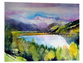 PVC print  View to Lake Zell - Johann Pickl