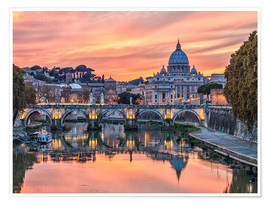 Premium poster Rome in the evening