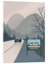 Acrylglas print  Welcome to Twin Peaks - 2ToastDesign