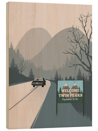 Hout print  Welcome to Twin Peaks - 2ToastDesign