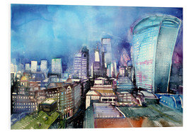 PVC print  London, The Walkie Talkie - Johann Pickl