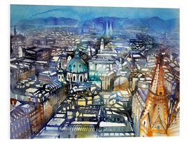 PVC print  Vienna View from St. Stephen's Cathedral - Johann Pickl