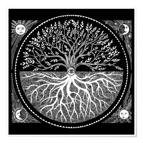 Premium poster Druid tree of life