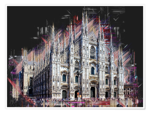 Premium poster Duomo di Milano the Cathedral of Milan