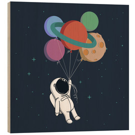 Hout print  Space journey - Kidz Collection
