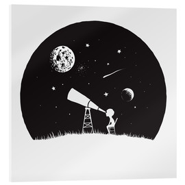 Acrylglas print  Looking into the stars - Kidz Collection