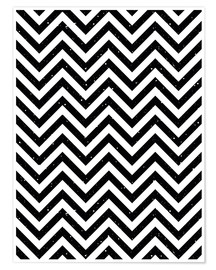 Premium poster Herringbone pattern black and white