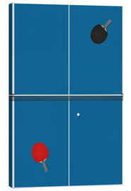 Canvas print  Table tennis match
