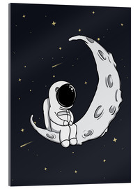 Acrylglas print  Little man in the moon - Kidz Collection