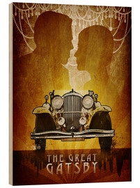Hout print  The Great Gatsby - Albert Cagnef