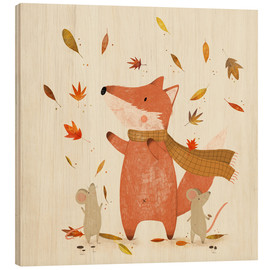 Hout print  Fall is coming - Judith Loske