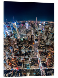 Acrylglas print  High above New York City - Sascha Kilmer