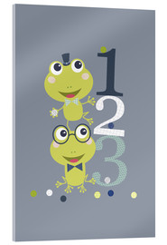 Acrylglas print  Frogs playing with numbers - Jaysanstudio