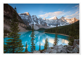 Premium poster Sunset over lake Moraine, Banff, Canada