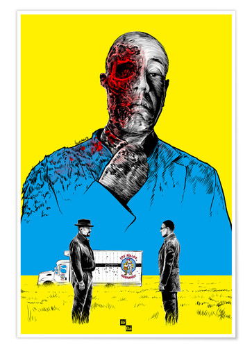 Premium poster Breaking Bad Gus Fring death whit blood