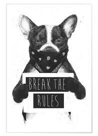 Premium poster Break the rules, rebel dog