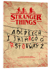 Acrylglas print  Stranger Things - Minimal TV-Show Fanart alternative - HDMI2K