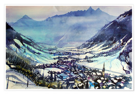 Premium poster Rauris in winter