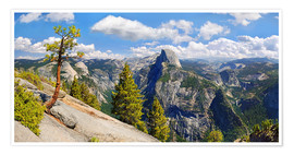 Premium poster Glacier Point Yosemite Valley California USA